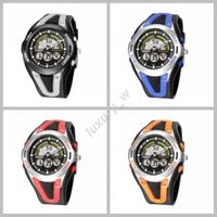 Trendy OHSEN Date Day dual time display watch for outdoor sports