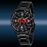 WEIDE Luxury Date Day Analog LED Display Men's Diving Sport Army Watches thumbnail image