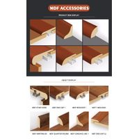 MDF /PVC/SPC Material for skirting baseboard flooring accessories type