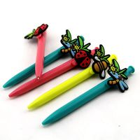Plastic Ball Pen With Customized Pvc Design
