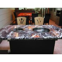 Hot and cold snow pot Marble Desktop Smokeless barbecue pot  Smokeless grilled pot