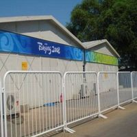 Hot galvanized steel metal safety crowd control barrier