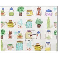 bulk Supply Mediterranean tin Printed indonesia linen cotton Fabric