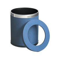 Luxury PU Leather Cover Trash Waste Bins Office Convenient Waste Paper Bucket thumbnail image