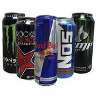 Various Soft Drinks,Energy Drinks, Energy Drink 250ml Red, Blue and Silver