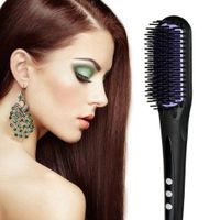 Hot-selling PTC LCD ceramic tourmaline fast heating hair straightening brush comb