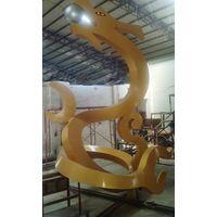 Gold Dragon Sculpture