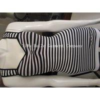 long styles seamless stripe vest