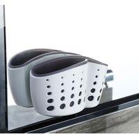 Plastic bathroom organizer with suction thumbnail image