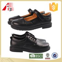 leather boys girls children kids school shoes