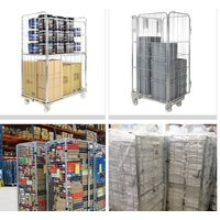Pallet mesh containers for transport