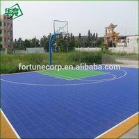 Plastic Basketball Outdoor Interlock  Flooring