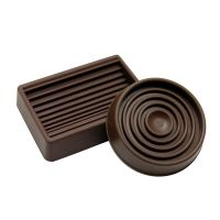 """1-3/4"""" Brown Round Cushioned Rubber Caster Cups"""
