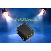 fiber optic stereo audio transmitter with RCA interface for 2CH stereo audio fiber to RCA converter thumbnail image