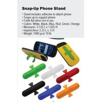 snap-up phone stand PVC material with metal inside