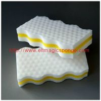 Wavy All-purpose Household Cleaning Sponge Pad