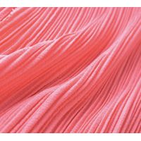New collection solid dyed poly spandex bubble chiffon fabric