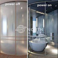 High Privacy PDLC Switchable Smart Glass Panel, Grey Laminated Smart PDLC Glass