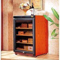 Spanish cedar racks wooden cigar humidor 300pcs storage capacity glass display cabinet cigar humidor