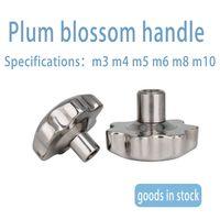 Star handle plum round handle six star knob locking screw cap hand screw 304 stainless steel hand nu thumbnail image