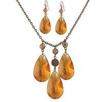 Luxury Yellow Rhinestone Jewelry Sets,