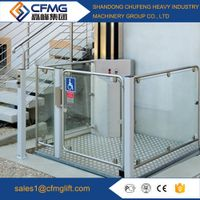 Vertical wheelchair lift for disabled people with 250kg load capacity