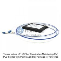 1x4 Fiber Polarization Maintaining(PM) PLC Splitter Slow Axis with Plastic ABS Box Package thumbnail image