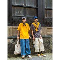 Japanese pocket color short sleeve T-shirt male fashion Korean version contracted half sleeve tee thumbnail image