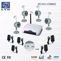 4-CH Circularly Image Capturing IR Wireless Home Security Mini Video Camera thumbnail image