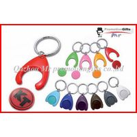 w design supermarket shopping trolley token coin key chain thumbnail image
