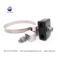 High strength stainless steel down lead clamp for pole or tower