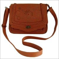 PU leather punch out messenger bag lady cross body handbags