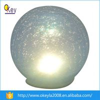 Silvery LED Garden Solar Light Glass Christmas Ball