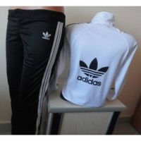 Adidas Womens Track Suit Jacket Pants thumbnail image