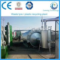 New technique high oil yield waste tyre pyrolysis plant