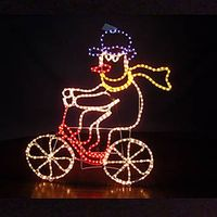Motif Light -snowman on bicycle
