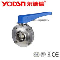 Stainless Steel sanitary welded butterfly valve