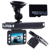"2 in1 car DVR 140 degrees. 1080 P TFT 2.0 ""LCD-speed detector in the vga-dash Cam G - Sensor"