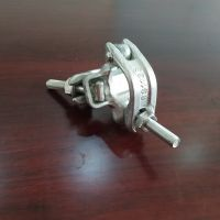 Drop forged Galvanized right angle coupler BS1139/EN74