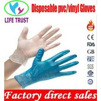 CE vinyl gloves clear and blue color