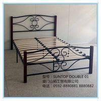 Metal bed,metal KD bed,metal bed frame,SUNTOP DOUBLE 01
