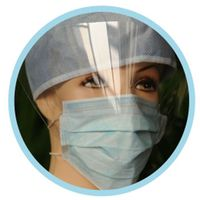 3m anti pollution mask n95 virus filter mask disposable hospital dental mask with sheild