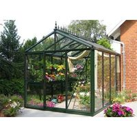 Victorian glass greenhouse