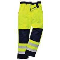 Waterproof and moisture permeable and reflective trouser