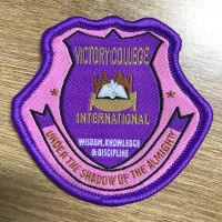 High quality Colorful School Woven Patch for Clothing thumbnail image