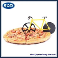 Bicycle Pizza Cutter Dual Stainless Steel Wheels Bike Pizza Knife thumbnail image