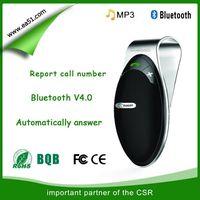 Sun visor bluetooth handsfree car kit stereo music plaly CE/FCC certification HF-810 thumbnail image