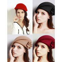 fashion girls wool felt beret hats