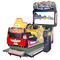 Arcade racing car game simulator