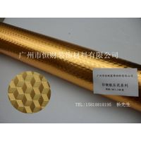 Gold color decorative pvc film